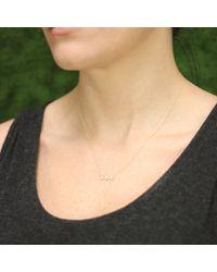 Sydney Evan | Metallic Diamond Love Necklace | Lyst