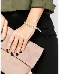 Estella Bartlett | Gray Anna Suede Bracelet | Lyst