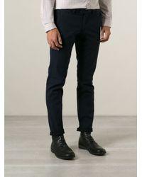Michael Kors Blue Slim Fit Chinos for men