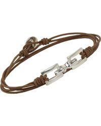 Zadeh - Natural Silver Linked Square Bracelet for Men - Lyst