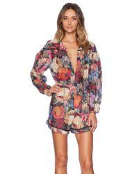 Zimmermann Printed Silk Jumpsuit - Multicolor