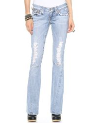 True Religion Blue Joey Flare Jeans 15 Destroyed
