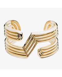 Eddie Borgo | Metallic Trace Cuff Gold | Lyst