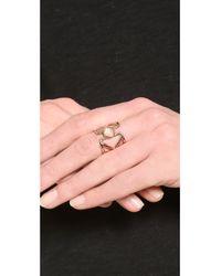 Pamela Love Pink Pathway Ring Rose Goldmoonstone