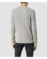 AllSaints | Gray Kargg Crew Sweater for Men | Lyst