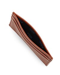 Brooks Brothers - Brown Leather Card Case - Lyst