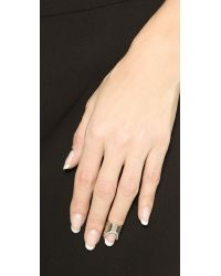 Vita Fede - Metallic Nail Ring - Clear/Silver - Lyst
