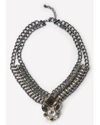 Bebe | Multicolor Crystal Pendant Necklace | Lyst