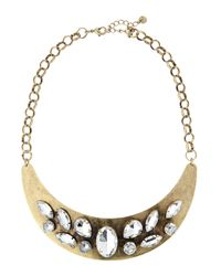 Lydell NYC | Metallic Brass Stone Collar Necklace | Lyst