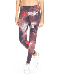 Alo Yoga | Pink Airbrushed Printed Leggings  | Lyst