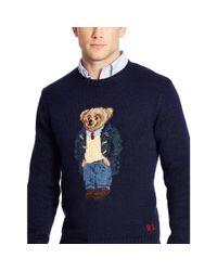 Polo Ralph Lauren - Blue Preppy Polo Bear Sweater for Men - Lyst