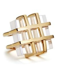 Marc By Marc Jacobs Metallic Kandi Gems Cage Ring