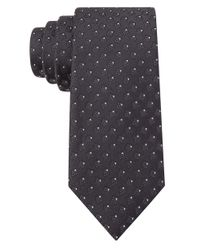 William Rast | Black Silk Box Print Tie for Men | Lyst