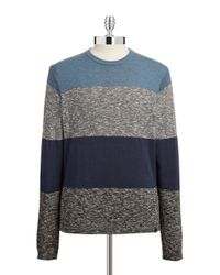 DKNY | Blue Block Striped Pullover for Men | Lyst