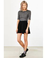 Silence + Noise Black Amber Pocket A-line Skirt