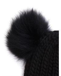 Eugenia Kim Black Mimi Fur and Wool Beanie Hat