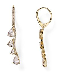 Nadri | Metallic Falling Water Cubic Zirconia Drop Earrings | Lyst