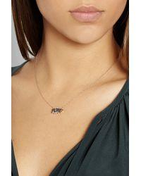 Diane Kordas | Black Pow 18-Karat Rose Gold Diamond Necklace | Lyst