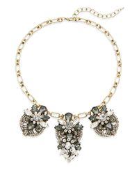 Saks Fifth Avenue - Metallic Jewel Drop Cluster Collar Necklace - Lyst