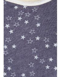Alternative Apparel | Blue Yard Work And Play Top In Stars | Lyst