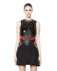 Alexander Wang Black Pleated Sneaker Dress