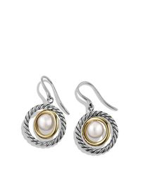 David Yurman | Multicolor Drop Earrings With Pearls & Gold | Lyst