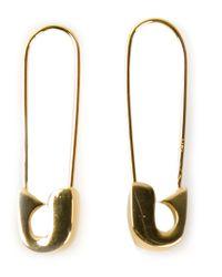 Lauren Klassen Metallic Safety Pin Earrings
