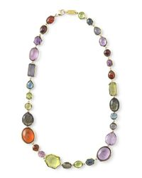 Ippolita - Multicolor 18k Rock Candy Sofia Fall Rainbow Necklace - Lyst