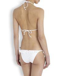 Pilyq - Bahama White Ruffle Bikini Briefs - Lyst