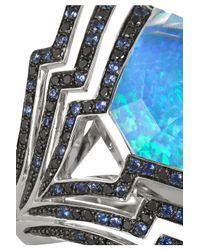 Stephen Webster Blue Lady Stardust 18-Karat White Gold Multi-Stone Ring