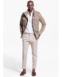 Mango Natural Concealed Hood Field Jacket for men