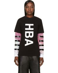 Hood By Air Black Double Layered T_shirt