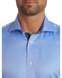 Ted Baker Blue Kytrim Regular Fit Twill Sheen Shirt for men