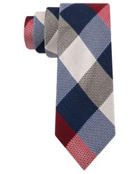 Tommy Hilfiger | Red Texture Buffalo Slim Tie for Men | Lyst