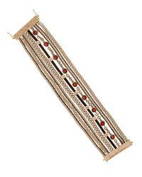 Lucky Brand | Metallic Multi-Row Cuff Bracelet | Lyst