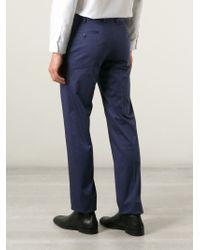 Brioni Blue 'megeve' Slim Tailored Trousers for men