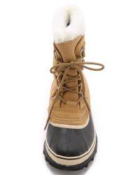 Sorel - Black Caribou Boots - Lyst