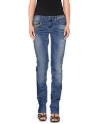 Liu Jo - Blue Denim Trousers - Lyst