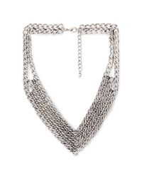 Forever 21 | Metallic Mixed Chain Chevron Necklace | Lyst
