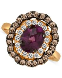 Le Vian - Purple Smoky Quartz (3/8 Ct.t.w.) And And White Sapphire (3/4 Ct. T.w.) Ring In 14k Rose Gold - Lyst