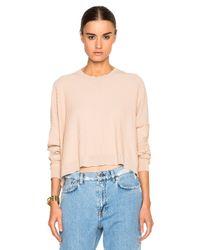 Acne | Pink Issy Rib Sweater | Lyst