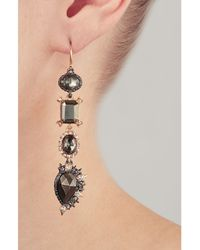 Alexis Bittar - Metallic Crystal Studded Chandelier Gold-plated Earrings With Pyrite - Multicolor - Lyst