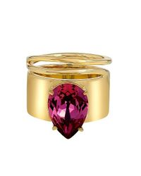 Stella Valle - Metallic Lightening Bug Rose Ring - Lyst