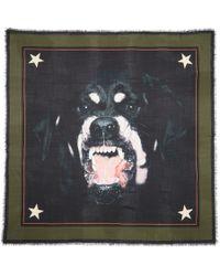 Givenchy - Black Rottweiler Print Scarf - Lyst