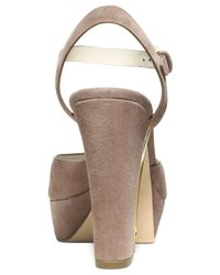 Michael Kors - Natural Michael London Platform Sandals - Lyst
