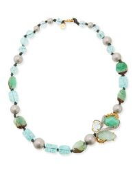 Alexis Bittar | Blue Maldivian Green Beaded Singlestrand Necklace 19 | Lyst