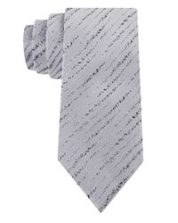 William Rast | Gray Silk Abstract Stripe Tie for Men | Lyst