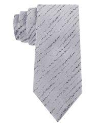 William Rast - Gray Silk Abstract Stripe Tie for Men - Lyst