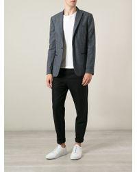 John Varvatos | Gray Button Blazer for Men | Lyst