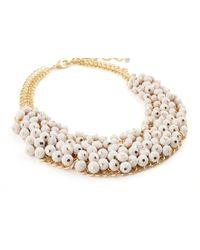 James Lakeland White Multi Beaded Necklace